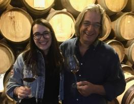 Vahe Keushguerian and daughter Aimee of Wine Works Warehouse