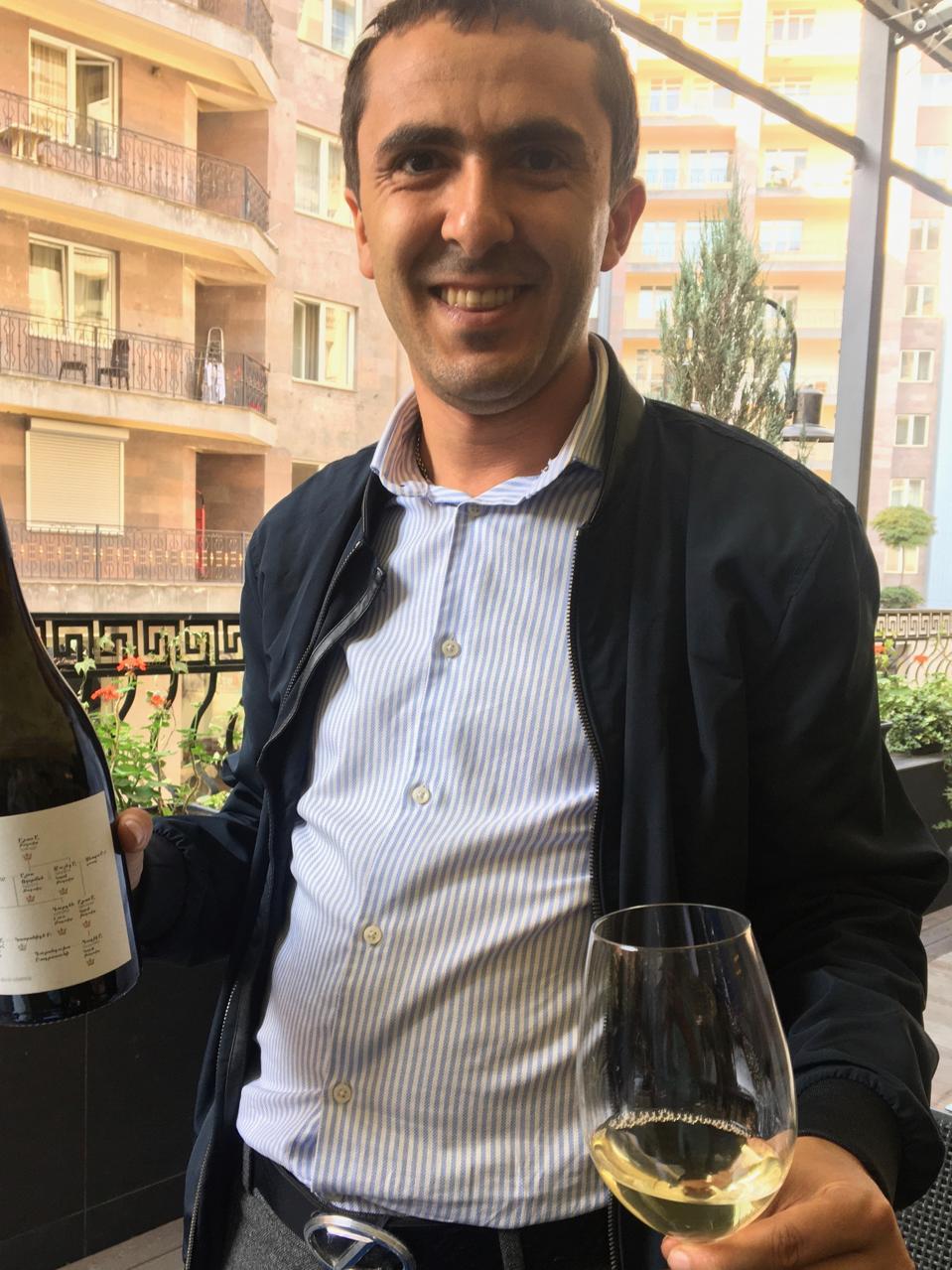 Davit Ashoti Zakaryan, CEO of Vayk Group wines