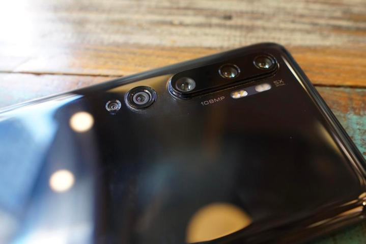 Five cameras on the Mi Note 10.