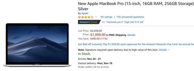 Amazon Black Friday laptop deals, Amazon Black Friday MacBook deals, Black Friday MacBook Pro sales,
