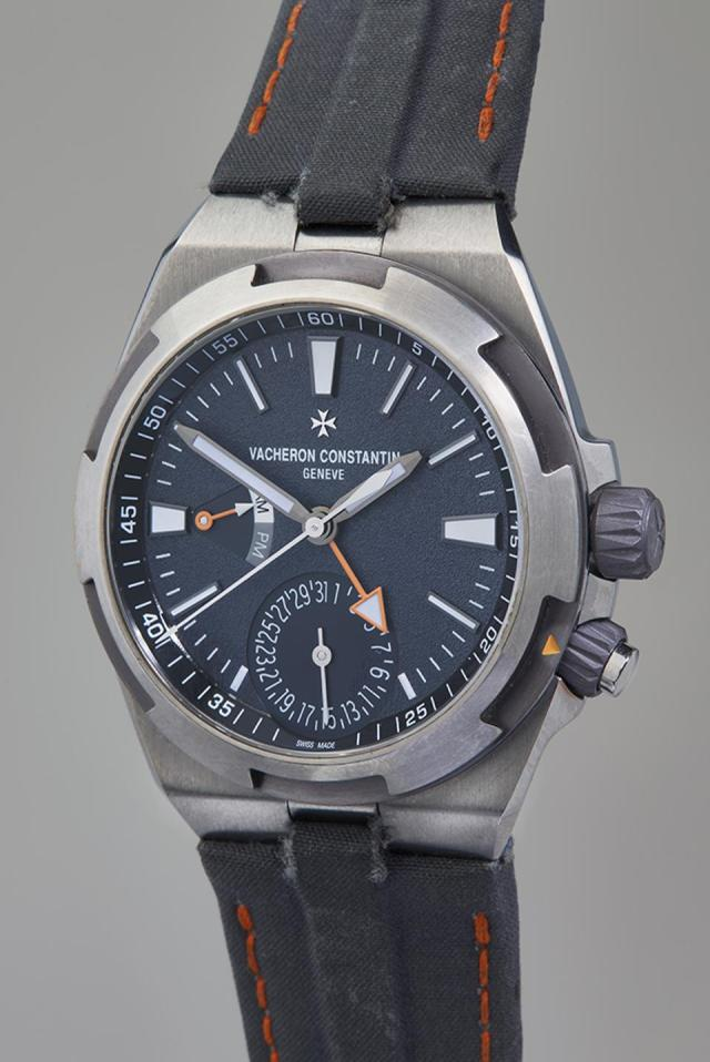 Vacheron Constantin unique titanium and tantalum Overseas Dual Time worn by Cory Richards on Mount Everest. It sold for $81,250.