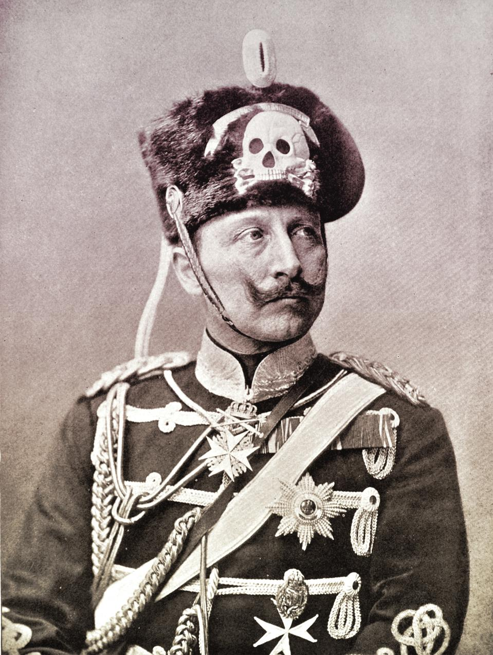 Kaiser Wilhelm II ascended to the German throne at age 29 in 1888.