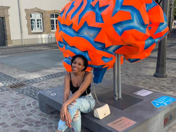 Nathasia Muwanigwa, from Visibility STEM Africa,  at the Luxembourg Centre for Systems Biomedicine.