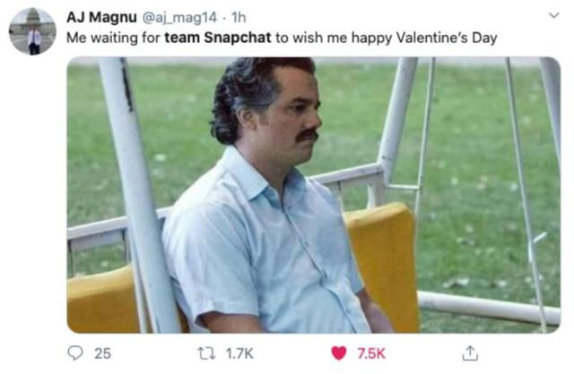 Snapchat Didn't Send A Valentine's Day Message To Everyone, And It's A Thing (Seriously)