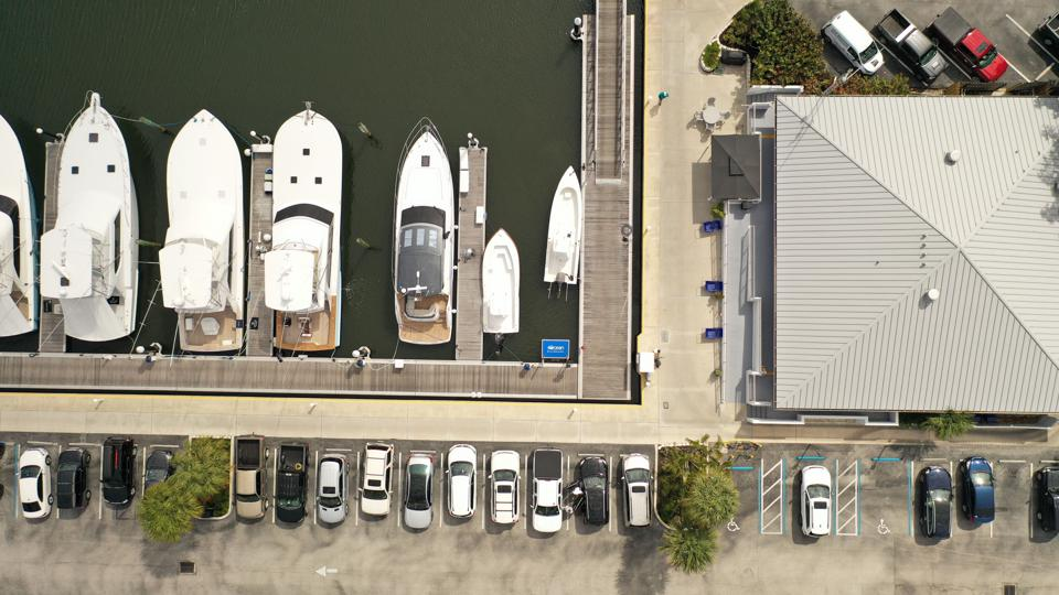 harbor, marina, aerial, birds eye view
