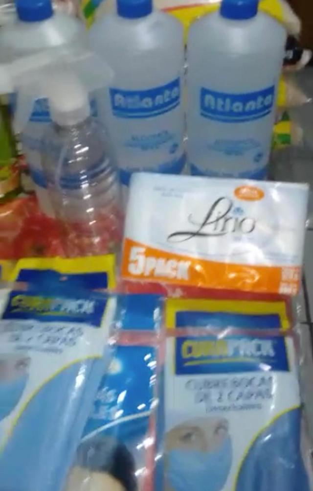 Supplies purchased by Jet Metier's housekeepers in Mexico