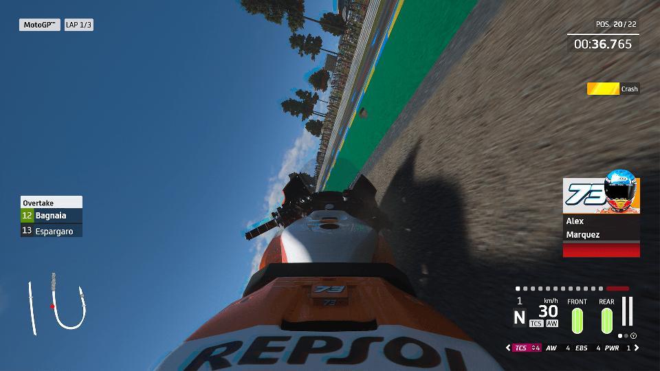MotoGP 20 crash