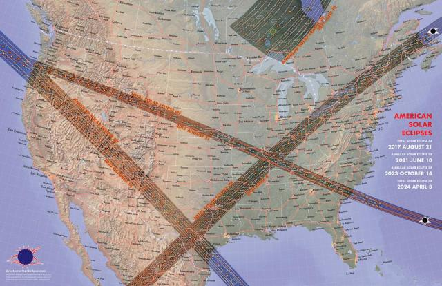 North America will experience a plethora of solar eclipses over the next few years.