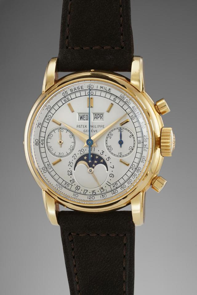 Patek Philippe reference 2499 perpetual calendar chronograph owned by Jean-Claude Biver