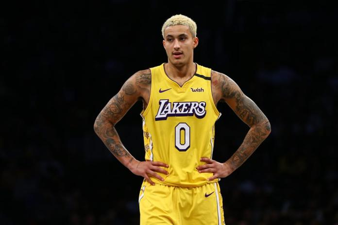 Kyle Kuzma during the Lakers' matchup against the Nets on Jan. 23, 2020.