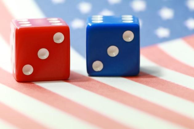 Cory Gardner Red and blue dice