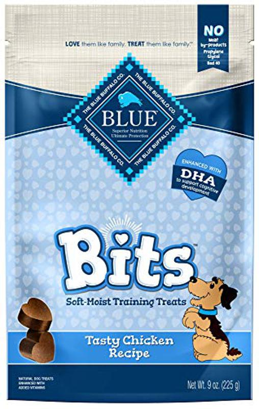 Blue Buffalo BLUE Bits Natural Soft-Moist Training Dog Treats, Chicken Recipe, 9-oz bag