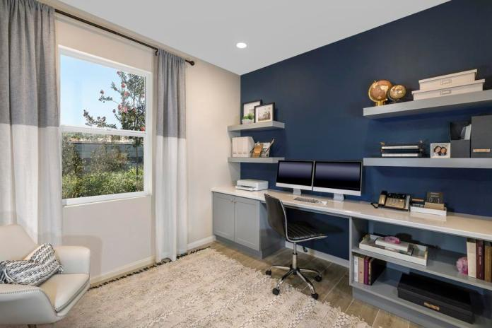 A decorated home office by KB Home