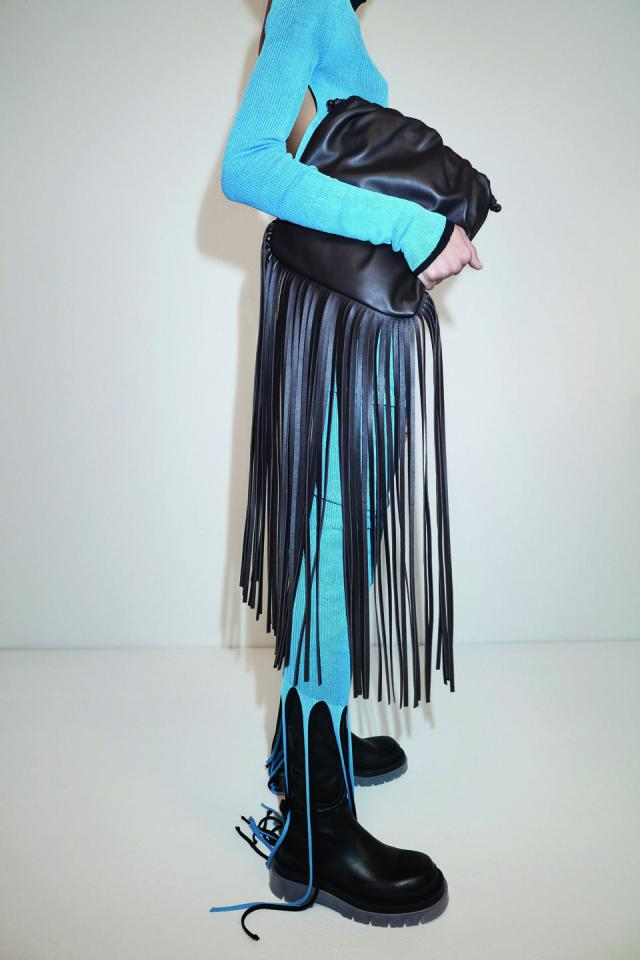The Fringe Pouch in Fondente