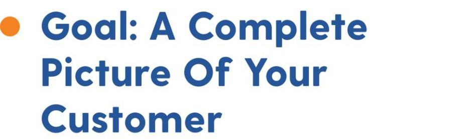 Goal: a complete picture of your customer