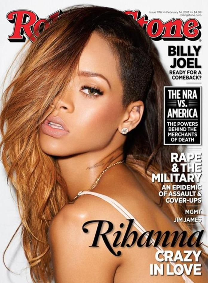 Rihanna on the cover of Rollingstone