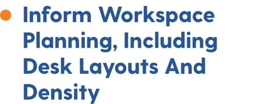 Inform workspace planning, including desk layouts and density