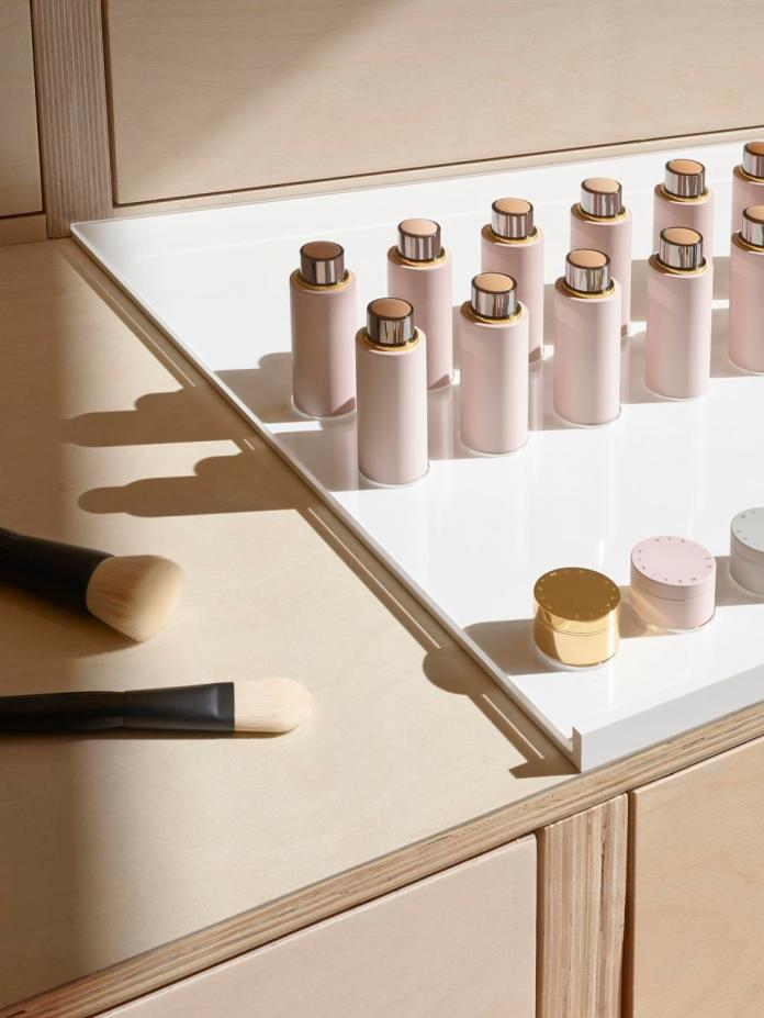 Gucci Westman products displayed at the new Shen Beauty store