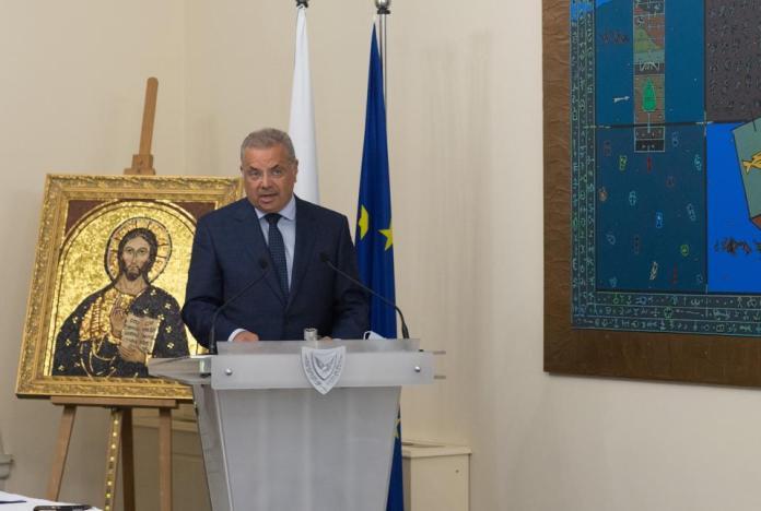 Cyprus' Minister of Interior, Nikos Nouris