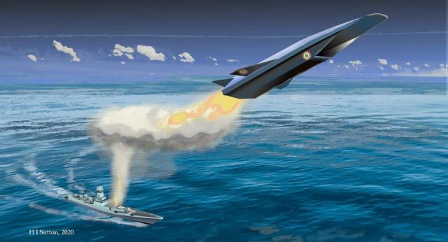 Artist's impression of a hypersonic missile