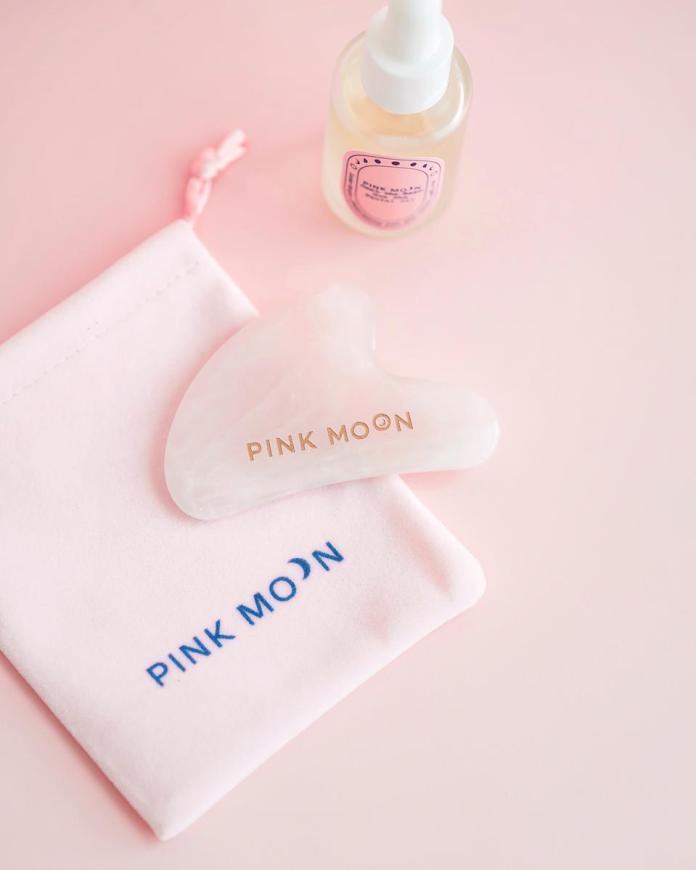 Rose Quartz Gua Sha Tool by PINK MOON