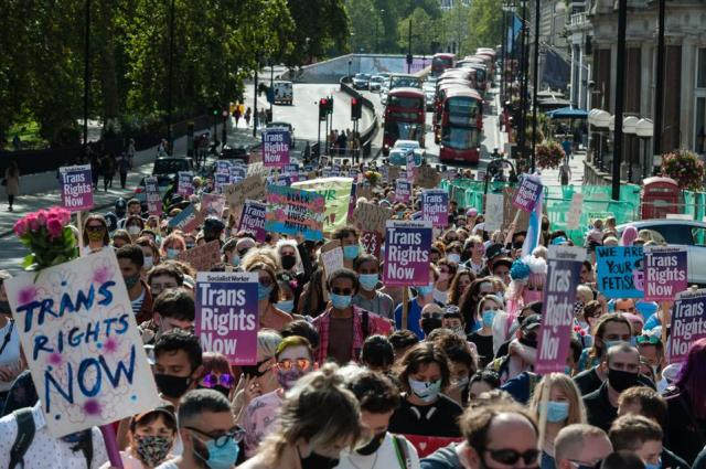 Trans Pride Protest in London