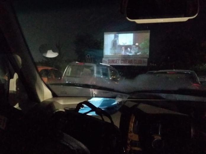 They earlier functioned with headsets for each car, but Sunset Cinema Club has got a radio frequency for post-covid era. Simply tune in your car to the frequency and watch the movie.
