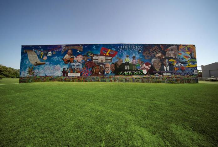 Brown v. Board of education mural in Topeka, Kansas