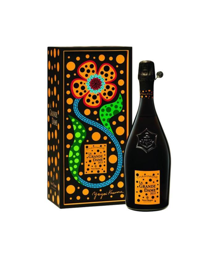 yayoi kusama veuve cliquot champagne limited edition
