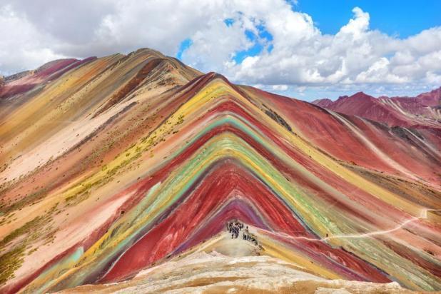 Rainbow Mountain (Vinicunca Montana de Siete Colores) in Cusco, Peru.