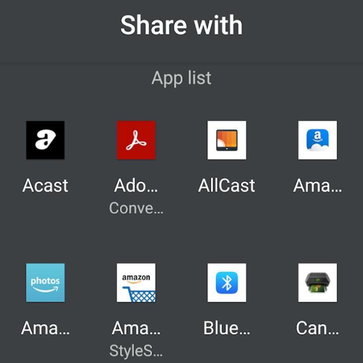 Google Photos now uses a new app sharing menu