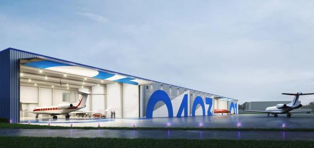 private jet private hangar