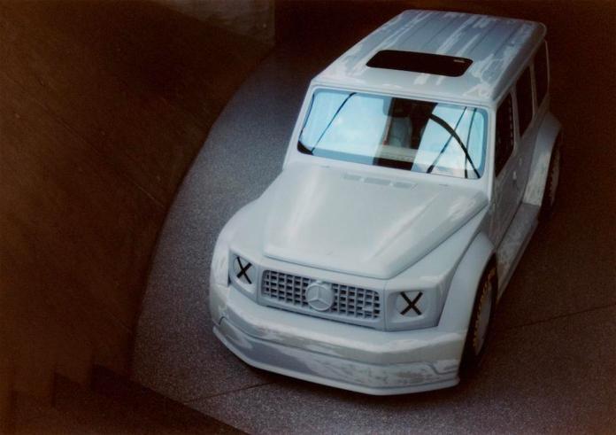 Project Geländewagen is a fictionalized G-Wagen racecar, stripped of all clichés of opulence