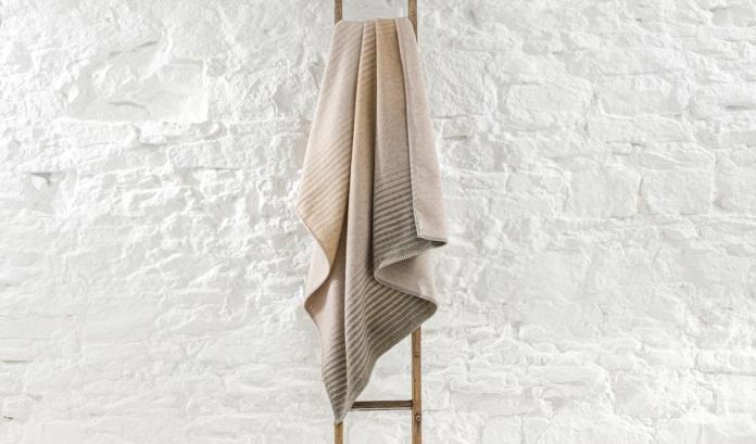 Blanket on a ladder