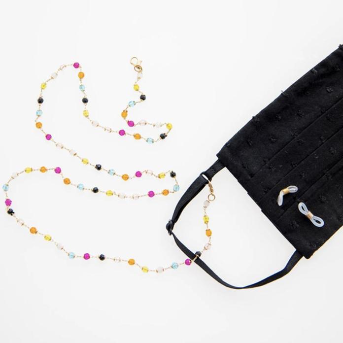 Sydne Summer Colorful Crystal Mask Necklace
