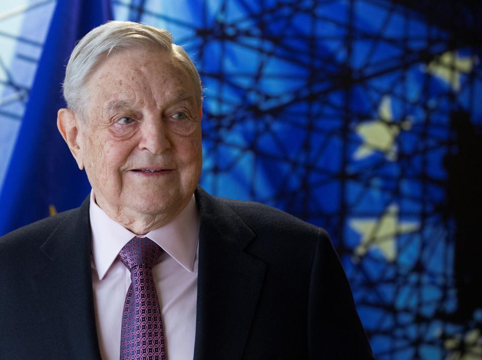 George Soros - Jean Claude Juncker meeting in Brussels