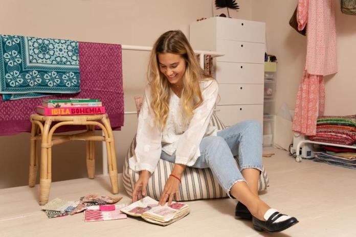 photo of emily in her studio