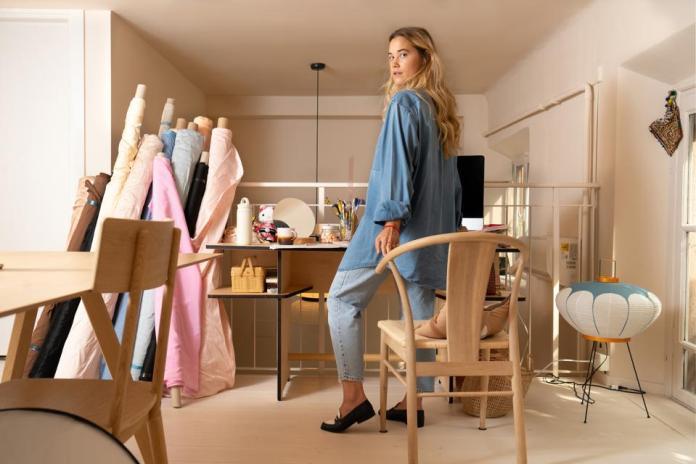 pic of emily in her studio