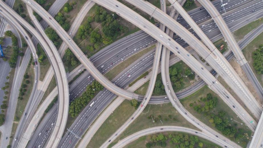 Aerial View of Spaghetti Junction in Atlanta, GA