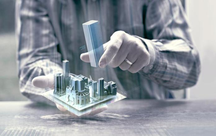 Architect and digital twin of a building