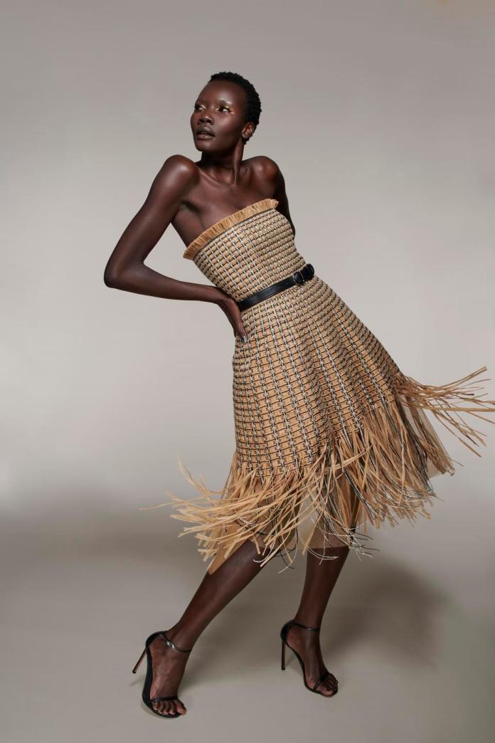 Raffia dress by LBV