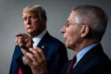 Trump calls Dr. Fauci 'an idiot, a disaster' and says 'people are tired of COVID' in leaked call to campaign staff hours after saying US would be in a depression if he'd listened to scientists – as Fauci says he's not surprised President caught the virus