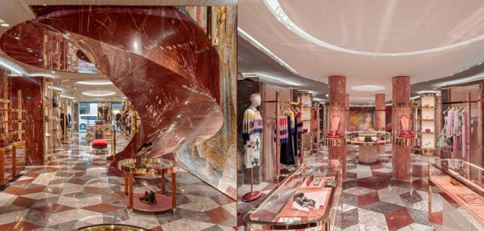 Interiors at Dolce & Gabbana Paris by Carbondale