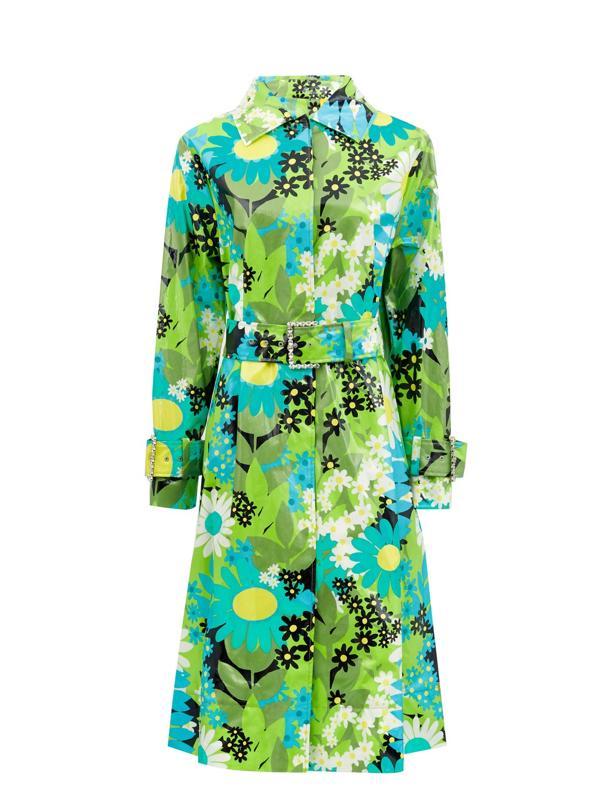 Charlie Floral Raincoat by Richard Quinn x MONCLER