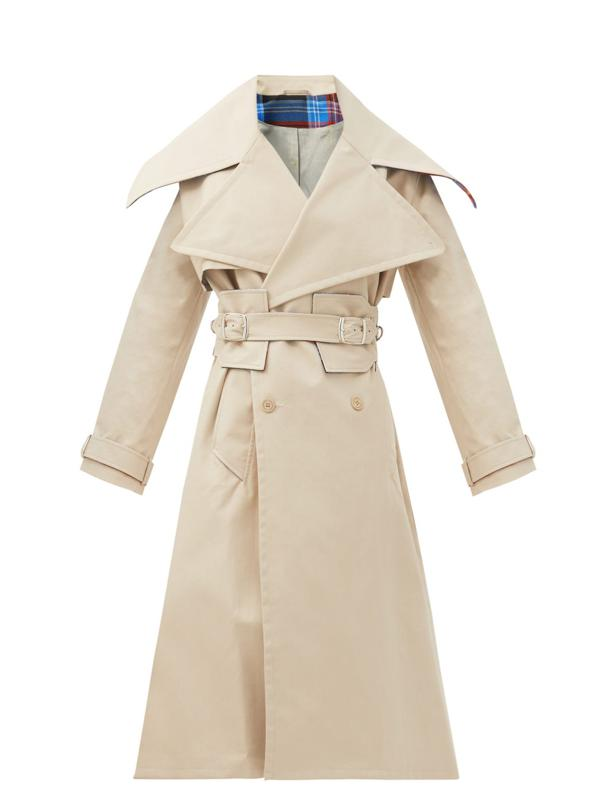 Patter Double-Breasted Trench Coat by Charles Jeffrey Loverboy: