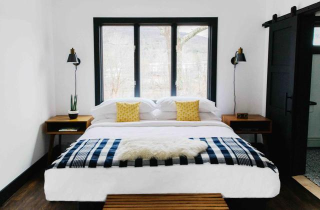 Eastwind Hotel & Bar in Windham, NY is minimalistic but stylish.