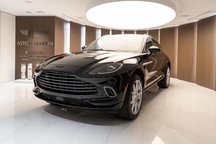 Aston Martin Residences, Aston Martin DBX, Miami, luxury condo, downtown, real estate, car