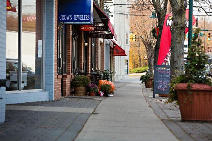 A small-town Main Street