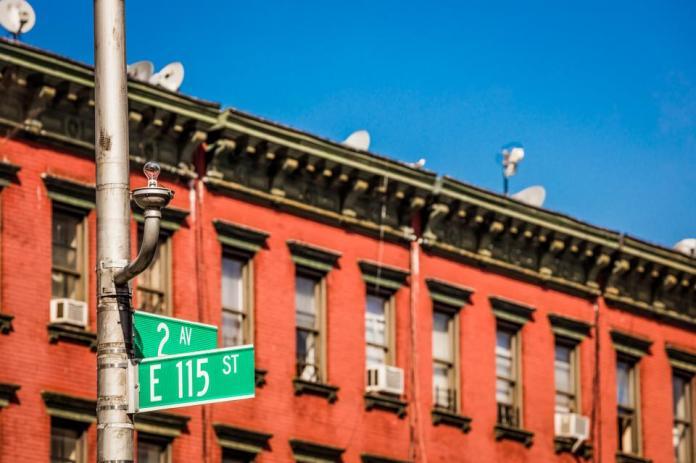 East Harlem brownstones
