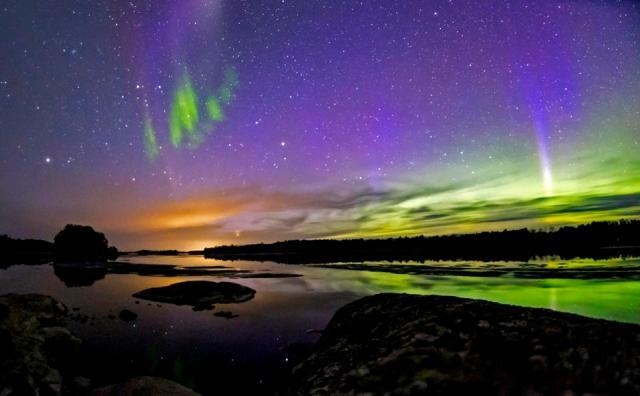 Northern Lights in Voyageurs National Park
